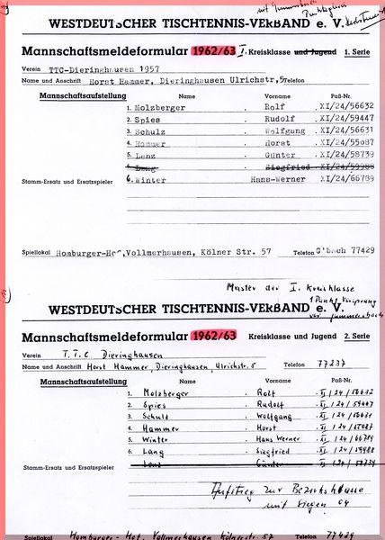 1962-63 Meldeformular Kreisklasse_ 1_ Kreisklasse