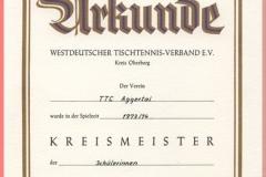 1974 Kreismeister Sch_lerinnen